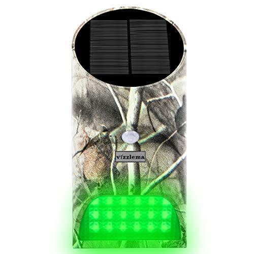 Feeder Hog Light Deer Licht Vizzlema Outdoor Solar Feeder Licht mit Motion Sensor und grüne LED Camouflage