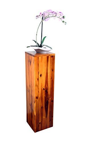 SAM Blumensäule Enie mittel Akazie FSC 100 Zertifiziert Blumenständer aus Holz lackiert 20 x 20 x 75 cm