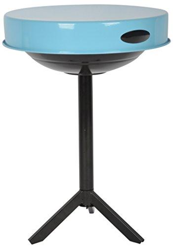 Esschert Design 3in1 Grill und Tisch 47 x 47 x 63 cm mit Tablett in schwarz und blau