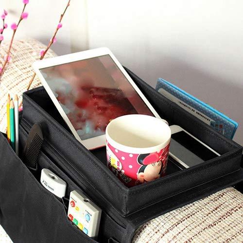 Homeofying Armlehne Stuhl Sofa Couch Sofa Fernbedienung Tisch Top Halter Organizer Tablett Multi