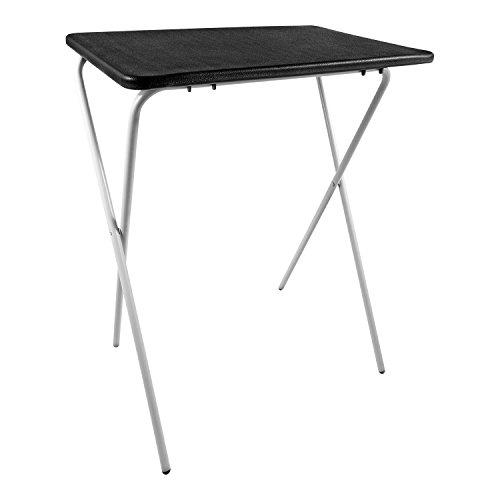 Taylor Braun Zusammenklappbar leicht Tablett Tisch Schreibtisch ideal für Laptops Camping TV Abendessen Festivals weiß schwarz