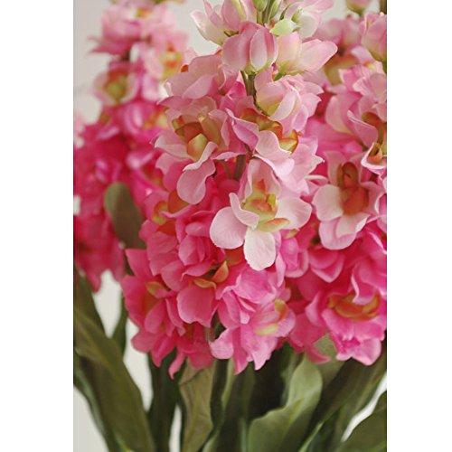 Miguor Künstliche Blumen-Dekoration 3-teilig Wasserhyazinthe Künstliche Blumen Set für Dekoration Hochzeit Dekoration Tisch Dekoration Blumen-Arrangement hellrot
