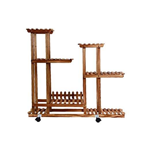 FuweiEncore Echtholz-Blumen-Gestell-Mehrschichtboden-Topf-Regal-hoher und niedriger Bonsai-Rahmen A Farbe  A Größe  -