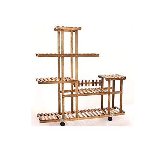 HhGold Echtholz-Blumen-Gestell-Mehrschichtboden-Topf-Regal-hoher und niedriger Bonsai-Rahmen A Farbe  B Größe  -