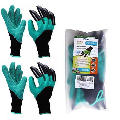 Garten Handschuhe 2 Paar Eiito pflanz-und arbeitshandschuhe garten gartenarbeit handschuhe mit graben klauen garten gloves gartenhandschuhe