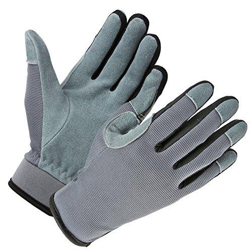 OZERO Garten Handschuhe Touchscreen Leder Arbeitshandschuhe1 Paar