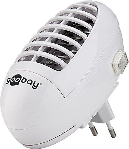 UV LED Insektenvernichter für die Steckdose Schutz vor Mücken Fliegen Insekten elektrische Insektenabwehr Weiß