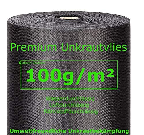 Xabian Anti Unkrautvlies 100gm² Filtervlies Rolle 50m x 1m  50m²  Gartenvlies mit hoher UV-Stabilisierung - sehr reißfest und wasserdurchlässig