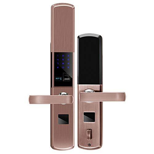 Lxj Fingerprint Türschloss Smart Home Fingerabdruck Sperre Passwort Sperre smart Lock Sicherheits Tür Halbleiter Schiebe Mobile-app