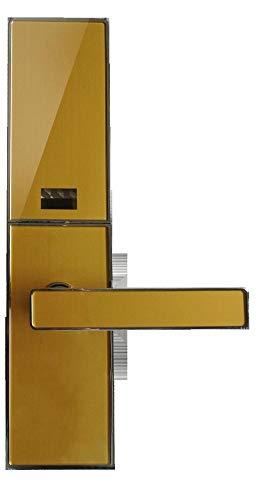 Lxj Fingerprint Türschloss smart Lock Schiebe Pin Sperre smart Security Elektronikschloss Haushalt Holztür Fingerabdruck Türschloss