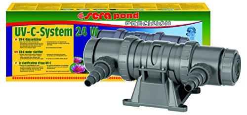 sera 08249 UV-C-System 24W ein Hochleistungs-UV-C-Wasserklärer gegen grünes Wasser gegen Algen und gegen Krankheitserreger - ganz ohme Chemie