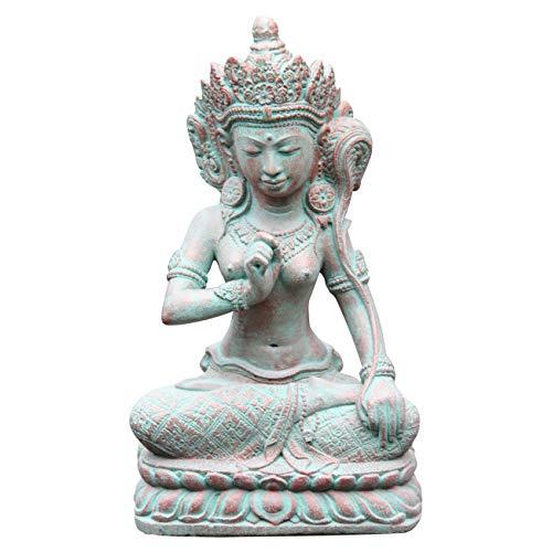 Ciffre Shiva Figur ca 40cm Antik Look Massiv Steinfigur Skulptur Feng Shui Garten Deko Wetterfest Lawa Steingus