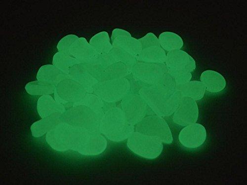 Leuchtsteine Leuchtende Deko Steine 250g ca80 Steine weißgrün 15-30 cm