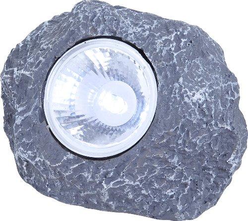 Solar Stein Leuchte LED Garten Beleuchtung Dekoration Lampe IP44 Terrasse Licht