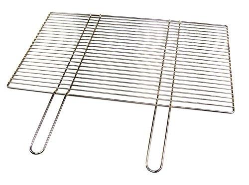 Edelstahl-Grillrost 50 x 35 cm mit Festen Handgriffen Grillclub Qualitätsedelstahl V2A Stabile Massive Ausführung ua für Buschbeck Gasgrill Grillkamin