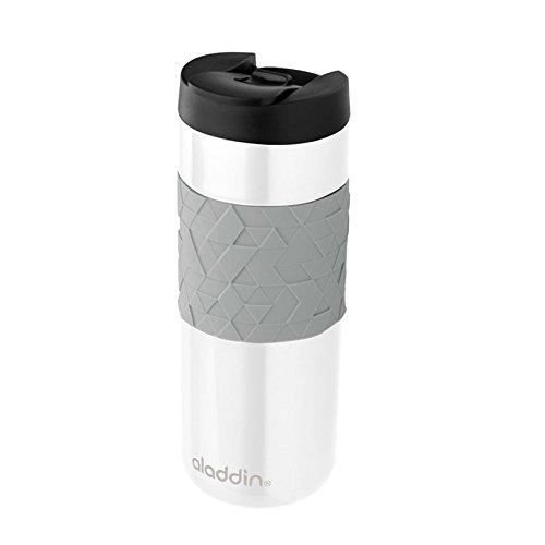 Aladdin Easy-Grip Leak-LockTM Edelstahl-Thermobecher 047 Liter 100 auslaufsicher vakuumisoliert Weiß