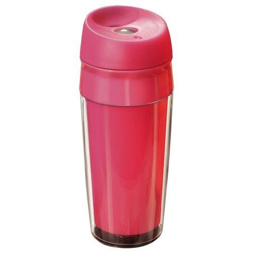 MATO Kunststoff Reisetrinkbecher 04 l pink auslaufsicherer Deckel Becher Trinkbecher