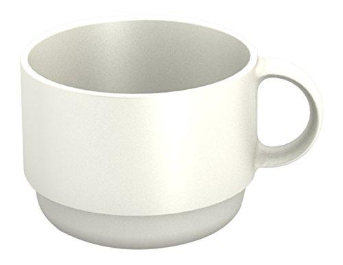 Ornamin Tasse 150 ml weiß Modell 501  Mehrweg-Becher Kunststoff Kaffeetasse Teetasse Set