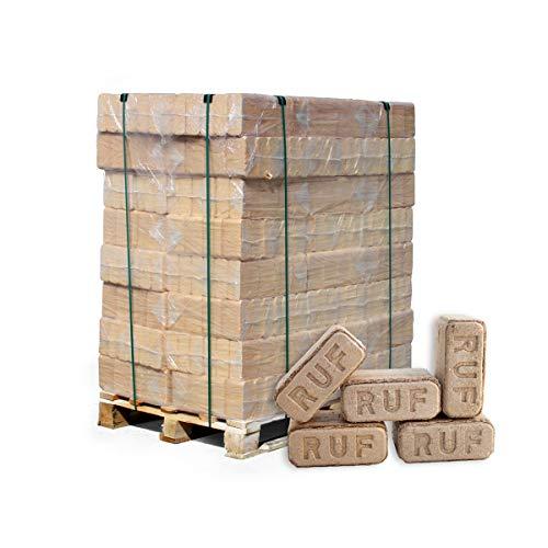 PALIGO Holzbriketts Ruf Hartholz Buche Eiche Kamin Ofen Brenn Holz Heiz Brikett 10kg x 96 Gebinde 960kg  1 Palette Heizfuxx