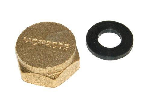 34  Messing Waschmaschine Verschlusskappe - Messing 1 - Pack