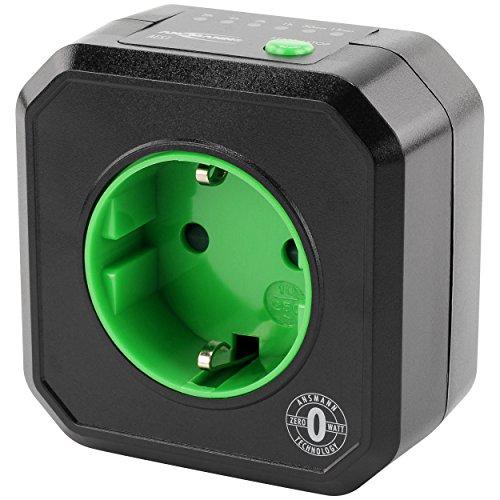 ANSMANN Timer Steckdose AES1  Schaltbare Steckdose mit Timer für Haushaltsgeräte Heizlüfter Kaffeemaschine Waschmaschine uvm  Betriebszeit per Tastenfunktion einstellbar