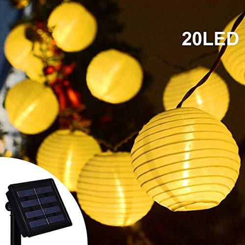 Solar Laternen Lichterkette 20 LED Stoff Ball Fee Weihnachten Beleuchtung Dekor für Outdoor Indoor Garten Terrasse Schlafzimmer Hochzeit Dekorationen Warmweiß