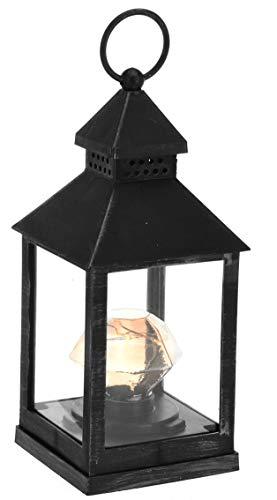 made2trade Hochwertige Holz Laterne mit LED Beleuchtung Batteriebetrieb - Schwarz - 235cm  Diamant