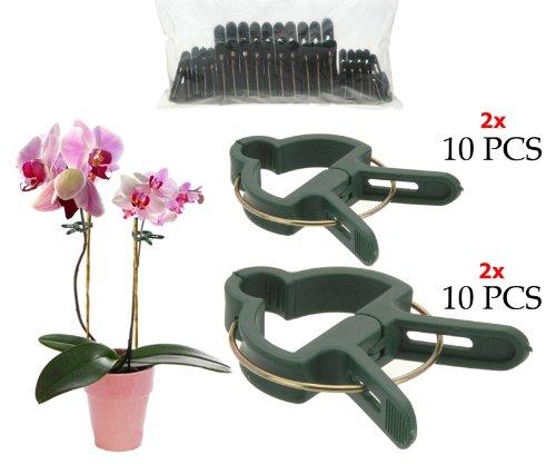 Pflanzenclips 20Stück 45cm und 65cm gefedert Pflanzenklammern Pflanzenhalter