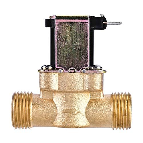12 Magnetventil Wechselstrom 220V normalerweise geschlossenes Messingelektrisches Ventil für Wasser-Steuer-chemische flüssige Industriepumpen