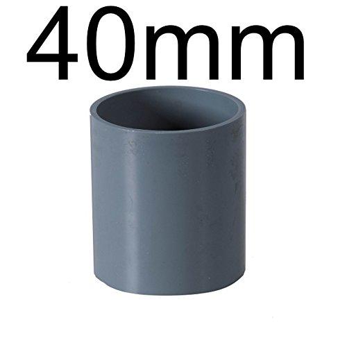 PVC Rohre und Fitting Ø 40 mm Fitting Winkel Kniestück Adapter Muffen T-Stück Kappen 1 x Muffe 40mm