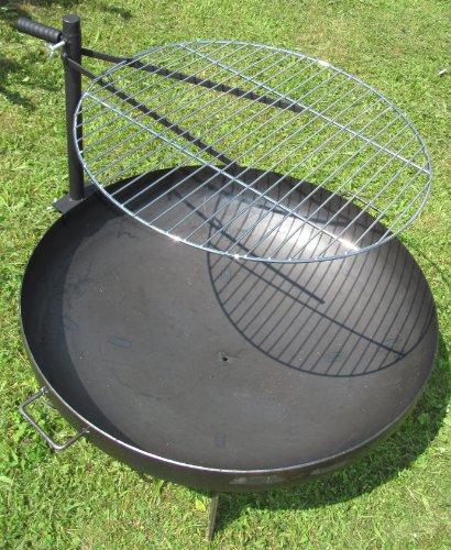 Grillrost für Feuerschale Ø60cm verchromter Rost höhenverstellbare Halterung