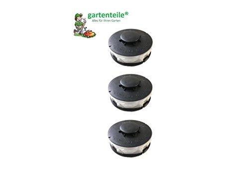 3 Stück Doppelfaden Rasentrimmer Spule Ersatzfadenspulen für Elektro Rasentrimmer passend für Hornbach ERT 550 V 5501