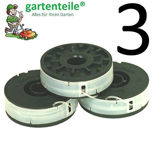 3X Spule Passend für EINHELL ET 50030 Elektro Rasentrimmer - Doppelfaden Spule für Elektro Rasentrimmer