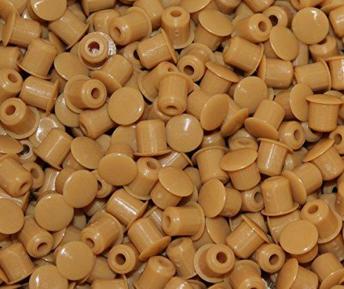 10 Stück Stopfen 5mmLoch x 8mm Abdeckung Biege Hartplastik