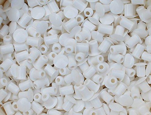 10 Stück Stopfen 5mmLoch x 8mm Abdeckung weiß