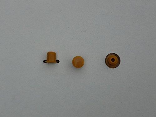 10 Stück Stopfen 6mmLoch x 8mm Abdeckung Kirsch Hartplastik