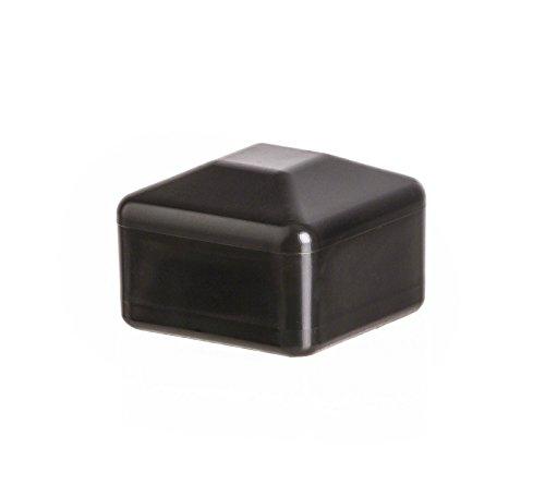 10 Stck Zaunpfahlkappe quadratisch 100x100 mm Schwarz Zaunpfostenkappen Zaunabdeckung Kunststoff