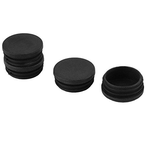 4 Stück Kunststoff schwarz 45mm Durchmesser Runde Ausblendung Ende Kappe Schlauch