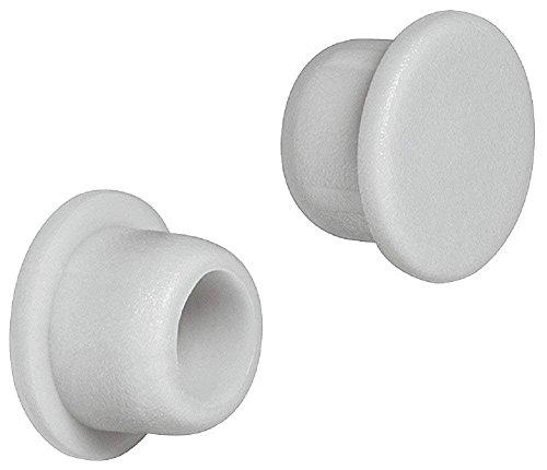 Gedotec Schrauben-Abdeckungen grau Schrauben-Kappen Kunststoff Möbel-Abdeckkappen rund - H1119  für Blindbohrung  Ø 6 mm  20 Stück