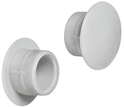 Gedotec Schrauben-Kappen grau Schrauben-Abdeckungen rund Möbel-Abdeckkappen Kunststoff - H1117  Ø 12 mm  für Blindbohrung  20 Stück