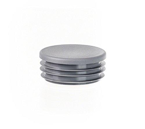 10 Stck Zollstopfen 1 Grau Rundrohr Stopfen Kunststoff Abdeckkappen