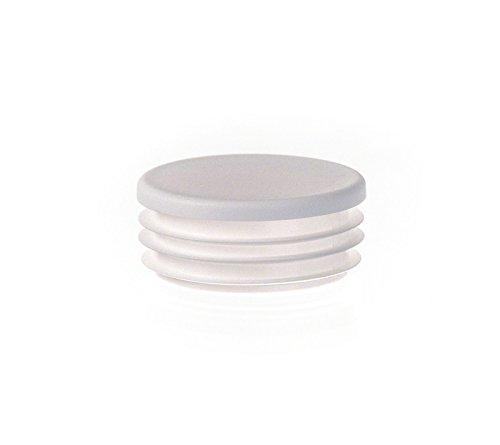 1 Stck Rundstopfen 30 Weiß Kunststoff Lamellenstopfen Abdeckkappe