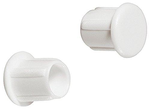 Gedotec Schrauben-Kappen zum Eindrücken Möbel-Abdeckkappen rund Blindstopfen Kunststoff  Modell H1124  Schrauben-Abdeckungen weiß RAL 9010 für Blindbohrung  Ø 5 mm  100 Stück
