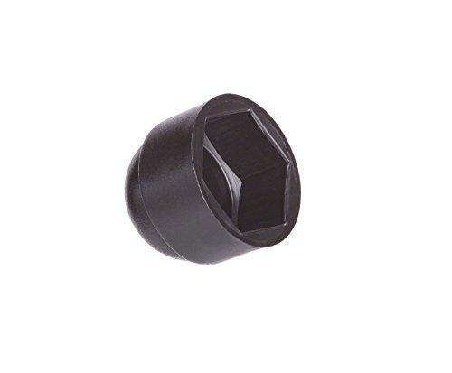 10 Stck Schutzkappen für Schrauben M18 für Schlüssel 27 Schwarz Schraubenkappen Stopfen Rohrkappen