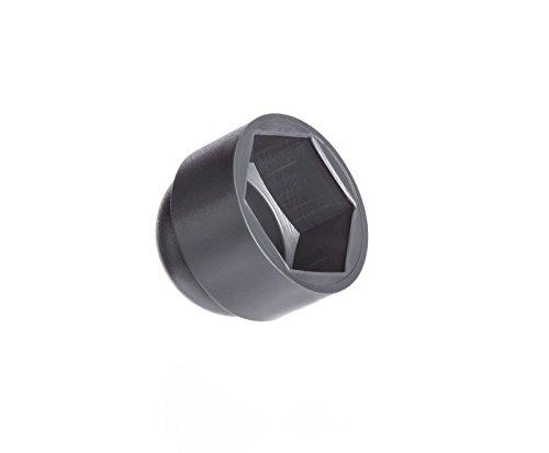 50 Stck Schutzkappen für Schrauben M5 für Schlüssel 8 Anthrazitgrau Schraubenkappen Stopfen Rohrkappen