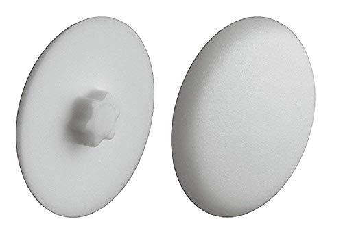 Gedotec Schrauben-Abdeckungen zum Einpressen Verschluss-Stopfen grau Schrauben-Kappen Kunststoff  H1121  Ø 12 mm  IS20  20 Stück
