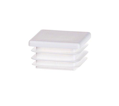 5 Stck Quadratstopfen 100x100 mm Weiß Kunststoff Endkappen Verschlusskappen