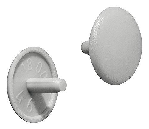 Gedotec Schrauben-Abdeckungen rund Möbel-Abdeckkappen Kunststoff Schrauben-Kappe grau RAL 7035  Modell Nr H1115  Ø 12 x 25 mm  Verschluss-Stopfen für Kopflochbohrung PZ2  100 Stück