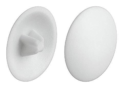 Gedotec Verschluss-Stopfen weiß Schrauben-Abdeckungen Kunststoff Schrauben-Kappen zum Einpressen  H1122  Ø 12 mm  Kreuzschlitz  50 Stück