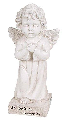 Buri Grab-Spruchstein stehender Engel 56cm Schutzengel Grabschmuck Figur Statue Deko